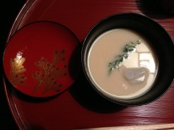 White Miso Soup with Mochi, Wasabi
