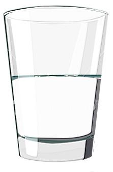 glass half-full half-empty