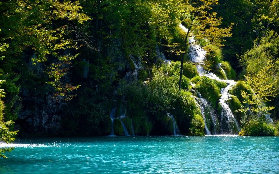 En los lagos de Plitvice