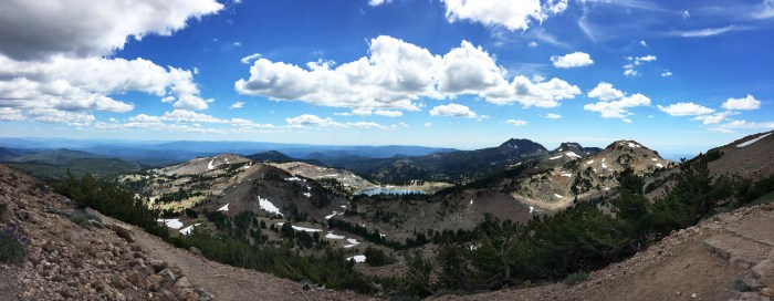 View from the Lassen Peak Trail
