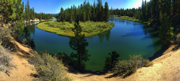 Panoramic of the Deschutes River viewed from La Pine State Park overlook