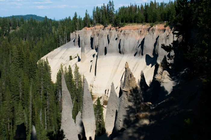 """Volcanic spires at Crater Lake National Park called """"The Pinnacles"""""""