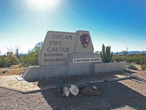 Organ Pipe Cactus National Monument Entrance Sign