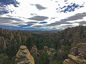 View into the sea of pinnacles at Heart of Rocks