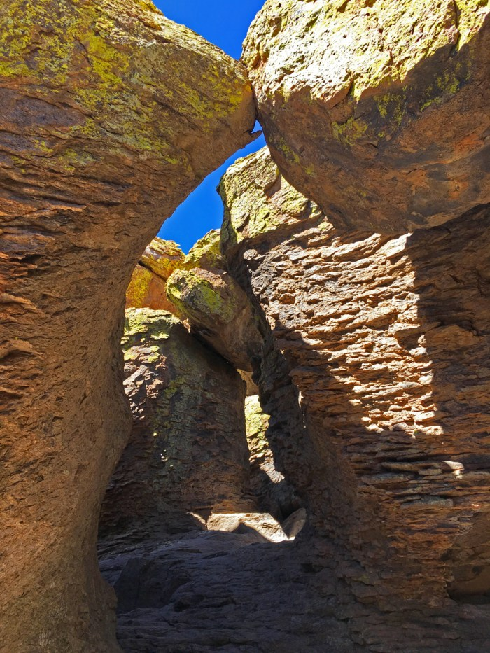 "Echo Canyon Grotto - a cave with several ""rooms"" formed by rocks"