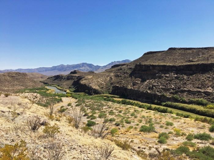 View of the Rio Grande valley near The Hoodoos