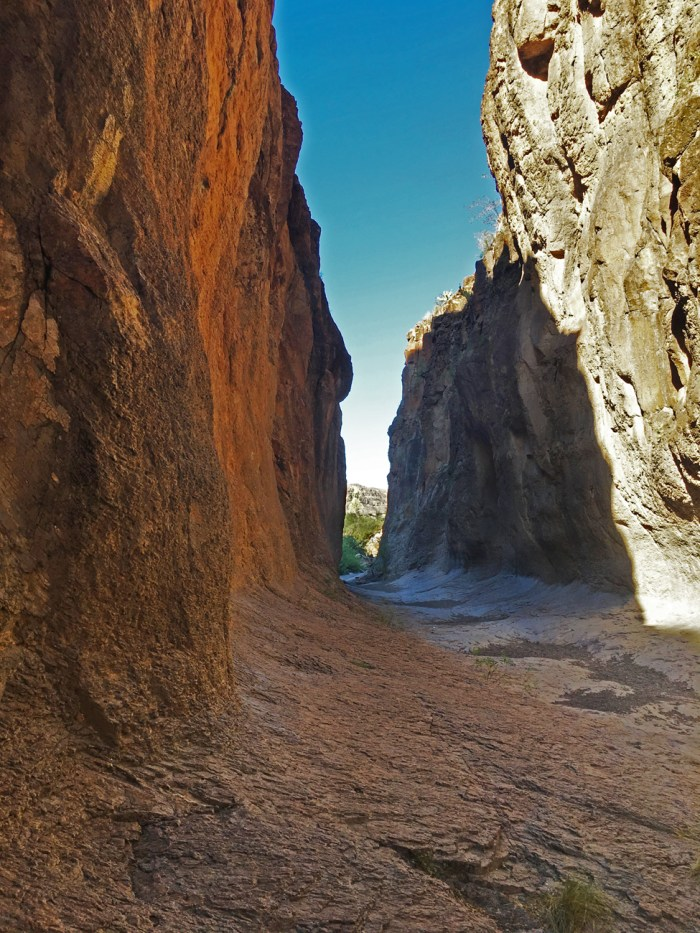 After entering Closed Canyon, this is the view looking back at the entrance to the canyon