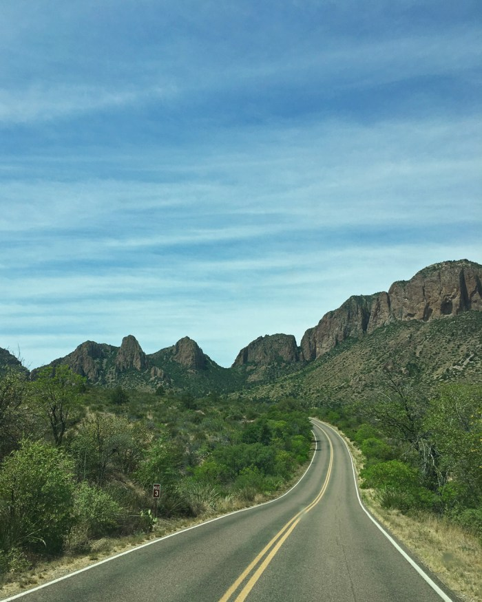 Chisos Basin Road in Big Bend National Park