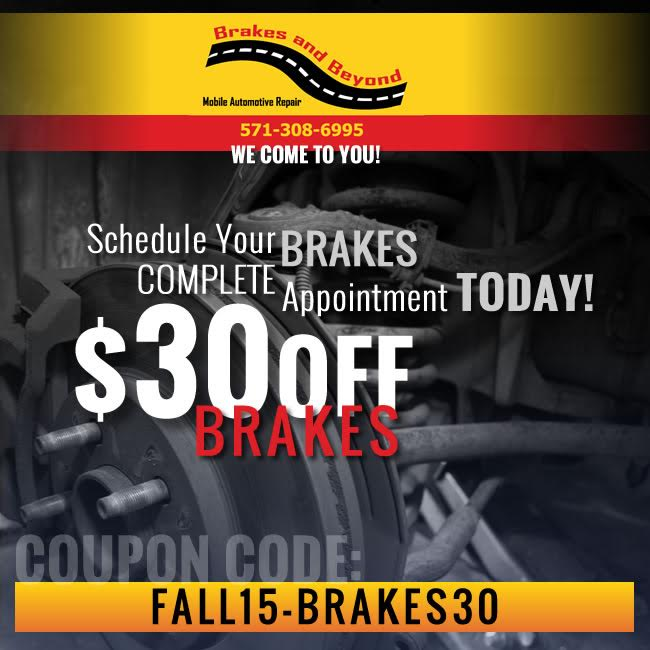 Front & Rear Brakes Service Coupon - $30 Off