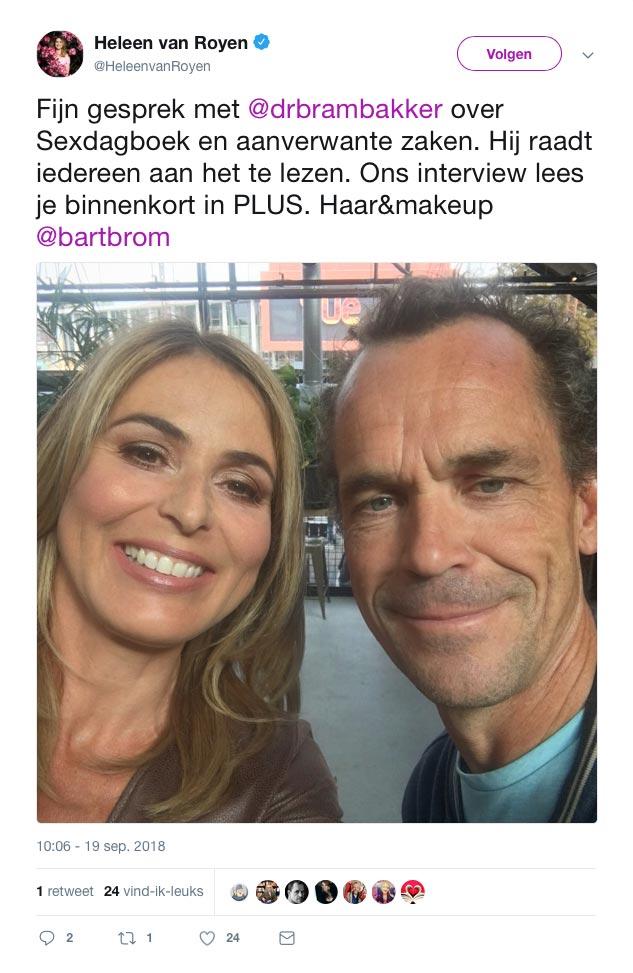 Bram Bakker interviewt Heleen van Royen