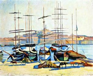 Albert Marquet the-port-of-marseliles-1904