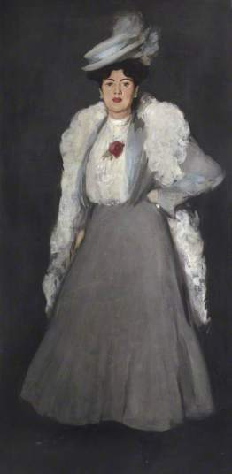 Fergusson, John Duncan; The Feather Boa; University of Stirling; http://www.artuk.org/artworks/the-feather-boa-127852