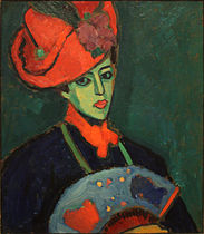 alexej_jawlensky_-_schokko_with_red_hat_1909