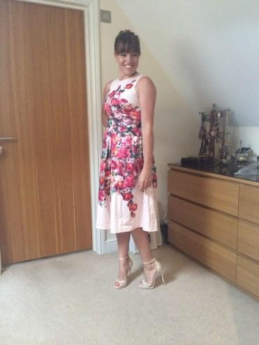ASOS vintage floral bardot petite dress