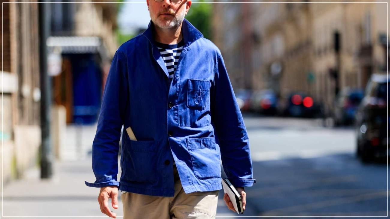 рабочая куртка королевского синего цвета