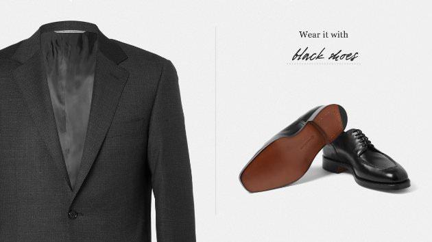 Сочетание цвета костюма и обуви