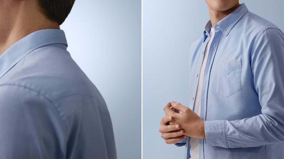 рубашка оксфорд мужская
