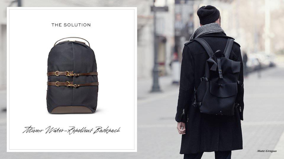 Как носить мужской портфель зимой