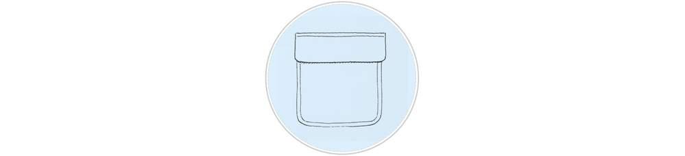 Накладной оборочный карман