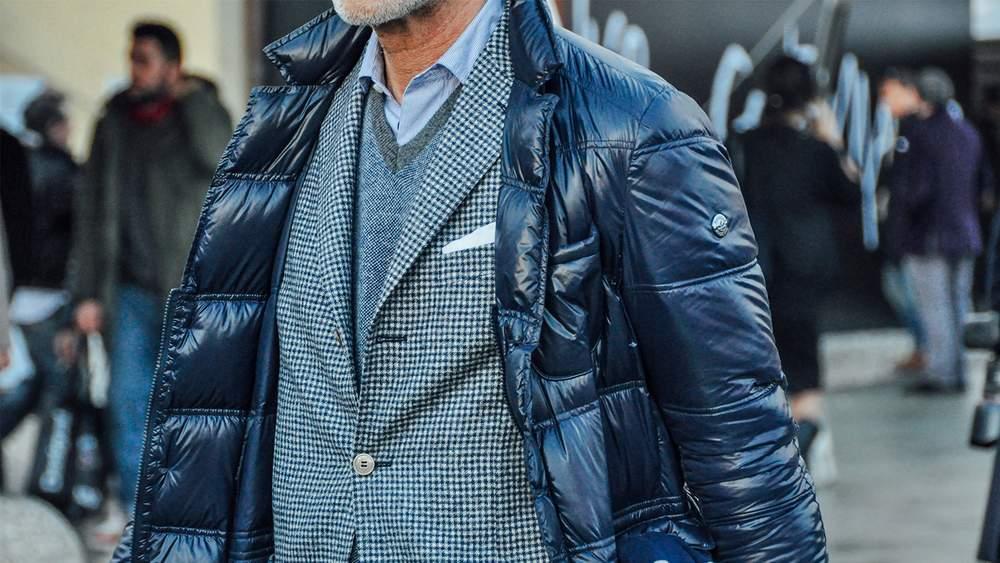 Зимняя куртка индиго