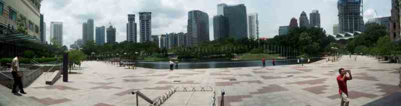 In front of the twin towers and the Suria KLCC mall is the pleasant KLCC park with a man-made lake