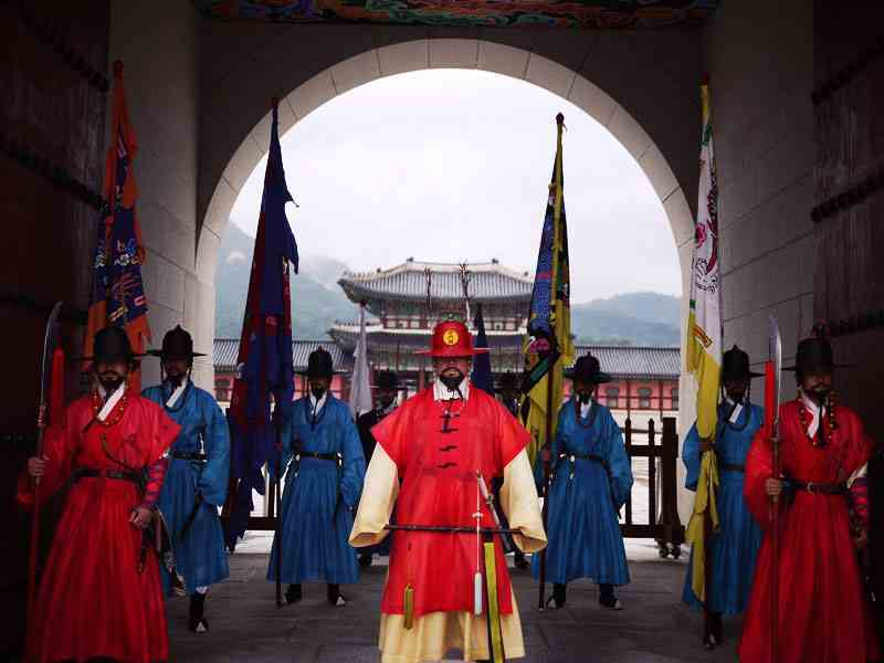 Royal Guards at Gyeongbokgung Palace
