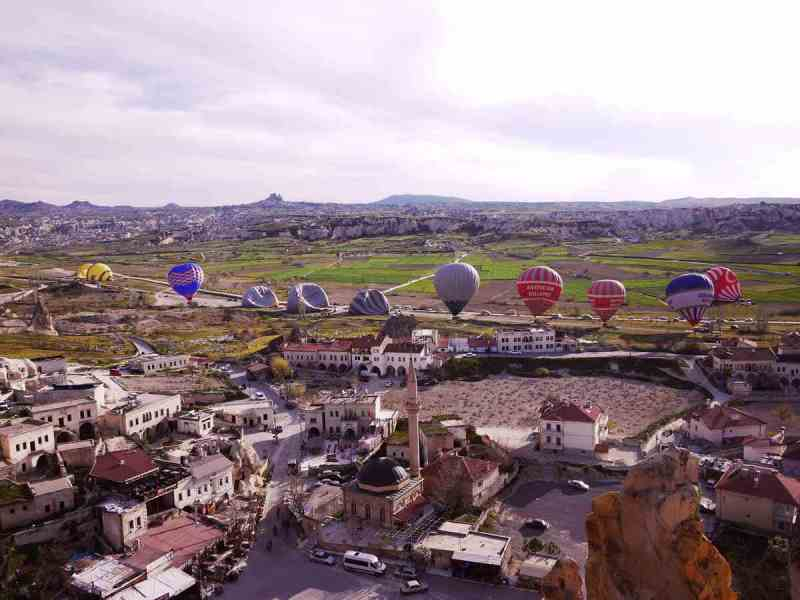 Cavusin is where they fly the hot air balloons