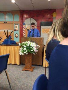 Brad Steel Speaking during OJT Banquet