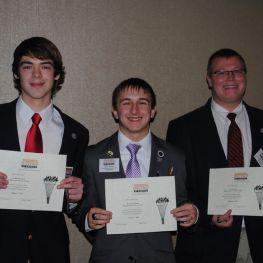 3 boys with awards