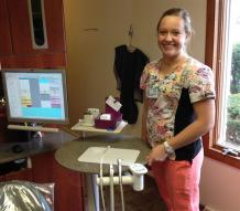 student in dental office