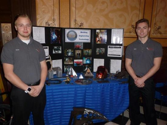 students showing projects at MI state capital