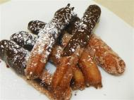 deep fried, chocolate covered desserts