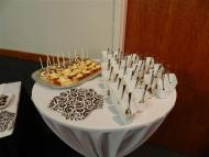 3 plates of desserts