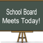 School Board Meets Today on a Banner