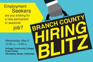 Branch County Hiring Blitz @ KCC Grahl Center | Coldwater | Michigan | United States