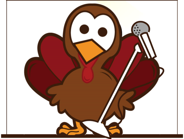 Turkey with Microphone
