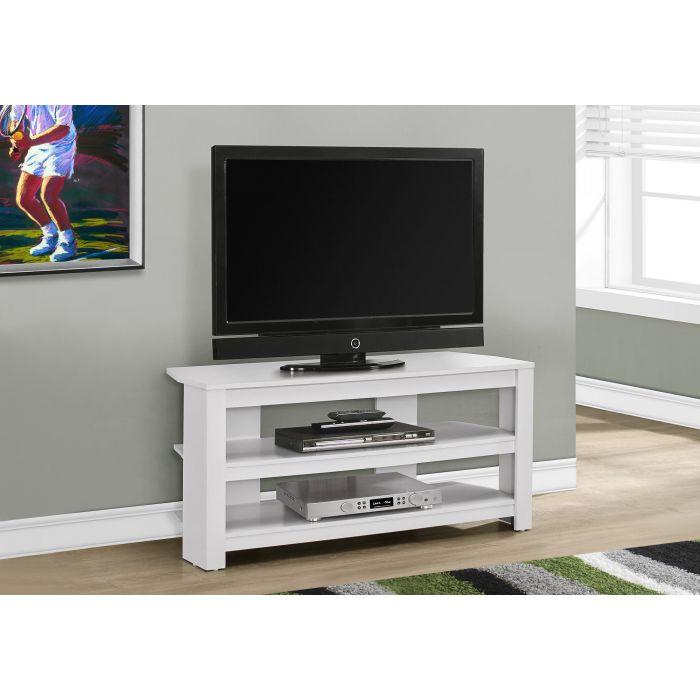 meuble tv 42 l en coin blanc monarch i 2567
