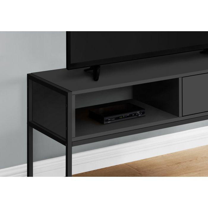 meuble tv 48 l noir metal noir monarch i 2874