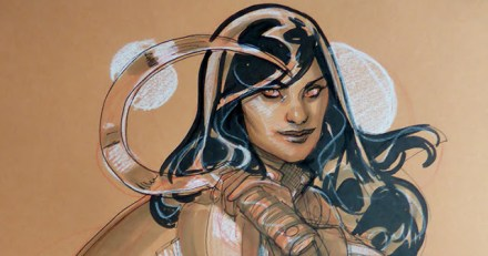 Red Skin - Terry Dodson - travail - sketch Comic Con