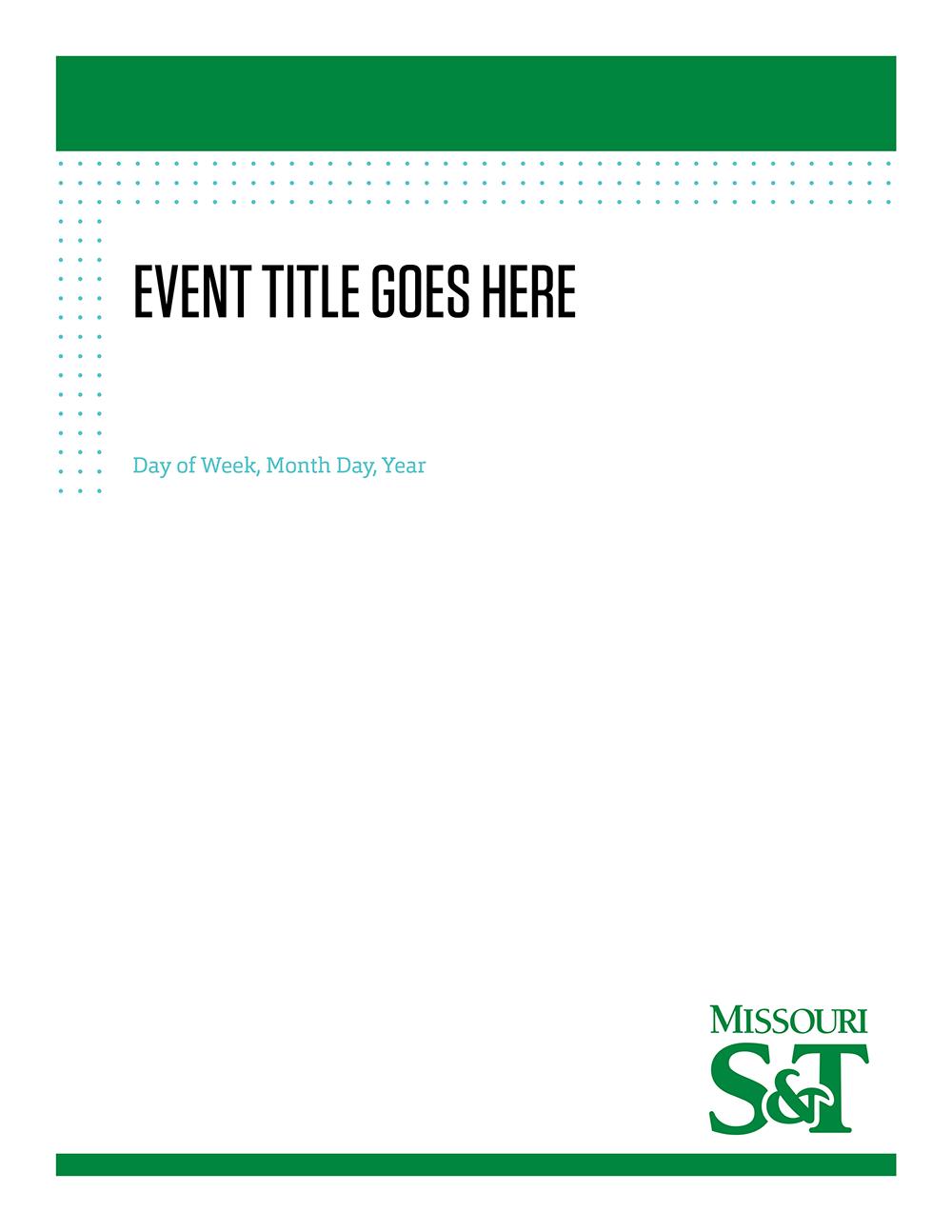 Print Templates – Marketing And Communications Missouri S&T