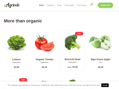 Agricole - Organic Food & Agriculture WordPress Theme Home 1-1