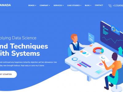 Anada - Data Science & Analytics Saas WordPress Theme Home 8