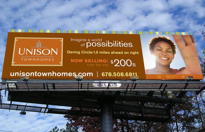 Unison Townhomes Billboard