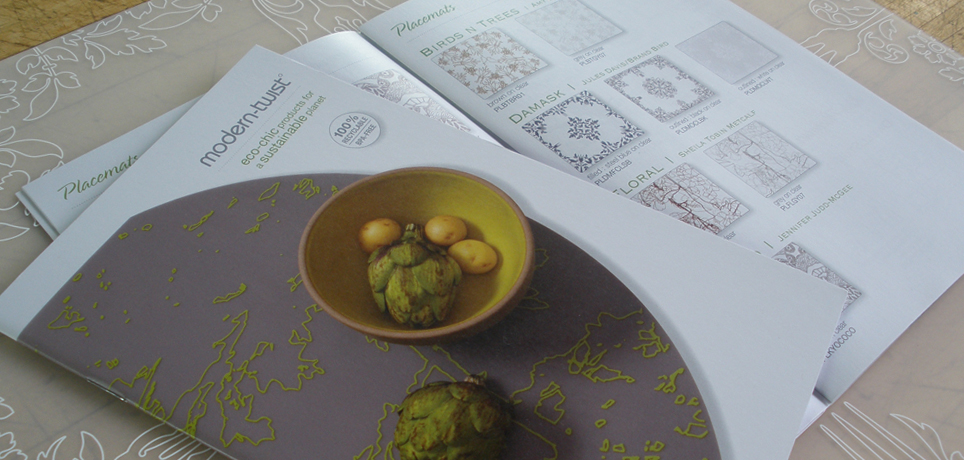 Modern-Twist Catalog with Damask Placemat