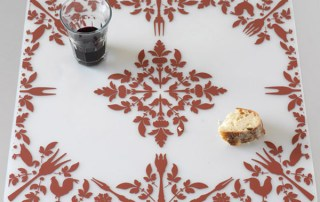 Brand Bird Dinner Damask Pattern for Modern-Twist