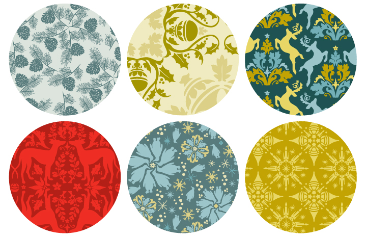 brand bird holiday pattern collection