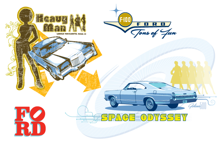 ford vintage guide graphics