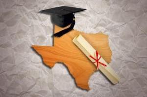 Texas cap and diploma