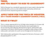 Leadership Opportunity for High School Girls