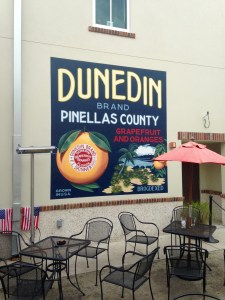 Wall mural with Dunedin Brand Pinellas County Florida